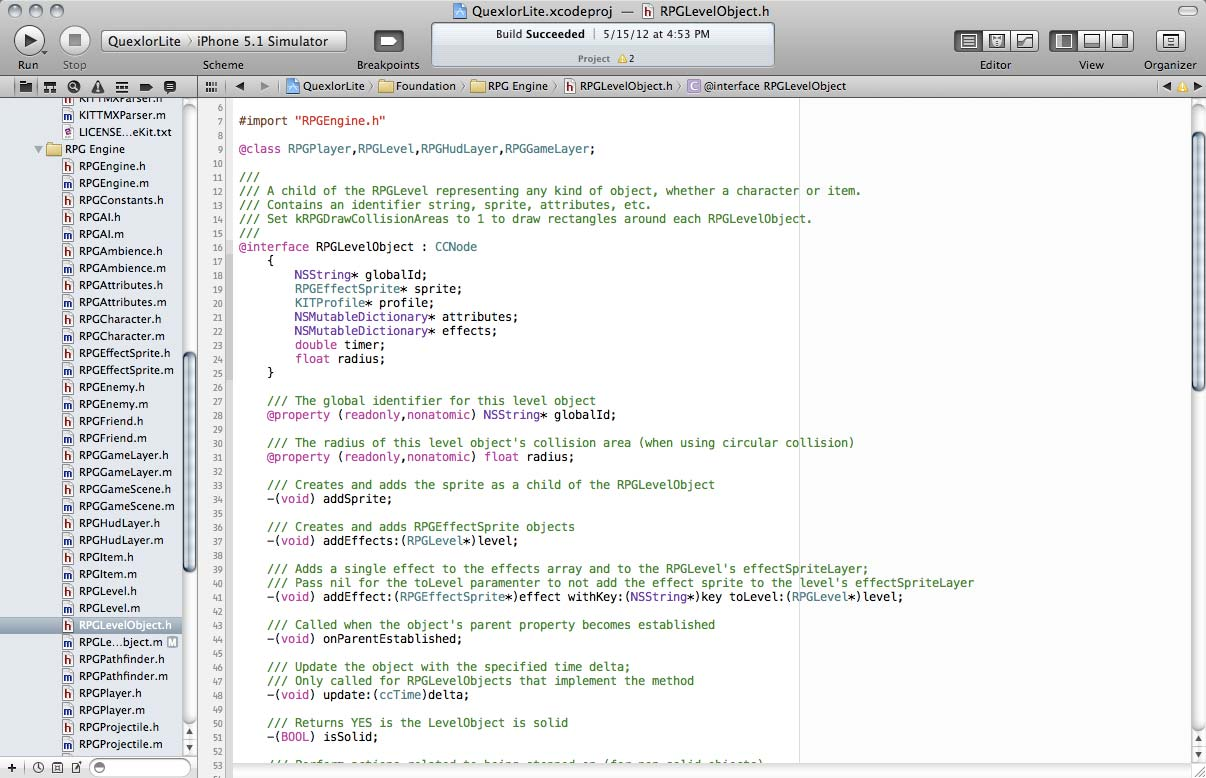 Cocos2d iPhone RPG Game Engine Code And Tutorial for iOS