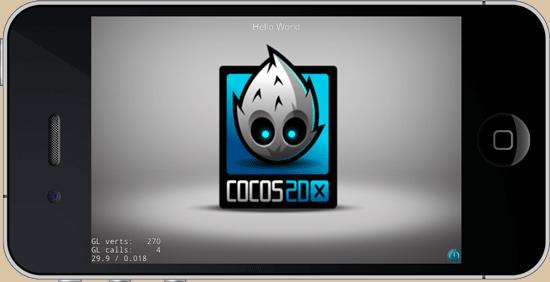 Cocos2d-X's HelloWorld app