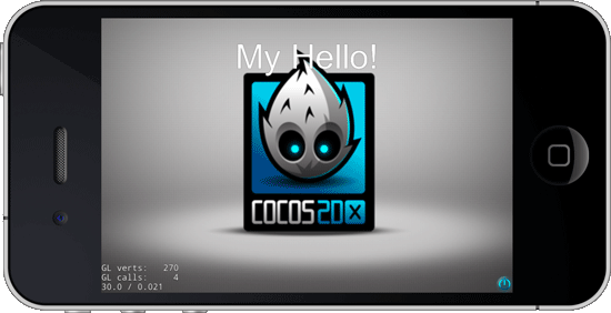 Running the MyHello iOS Xcode Cocos2dX project