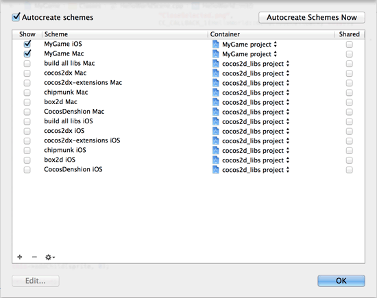 Hiding non-runnable schemes in Xcode