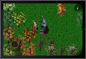 The player gets whomped by a grey troll in our community Cocos2D iPhone game