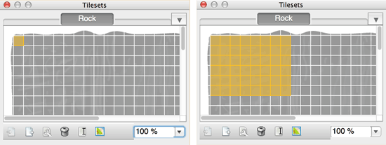 Selecting tiles for drawing with Tiled